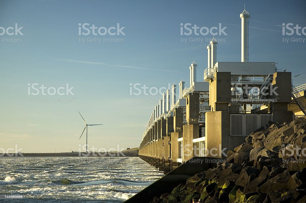 Storm surge barrier royalty-free stock photo