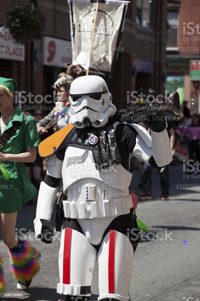 Storm Trooper at Pride Parade royalty-free stock photo