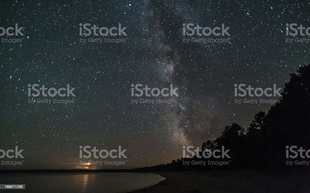 Storm under the Milky Way stock photo