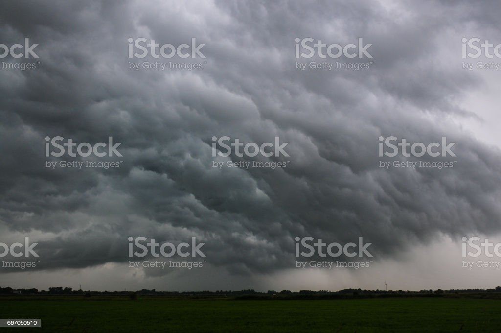 Storm weather in East Friesland germany