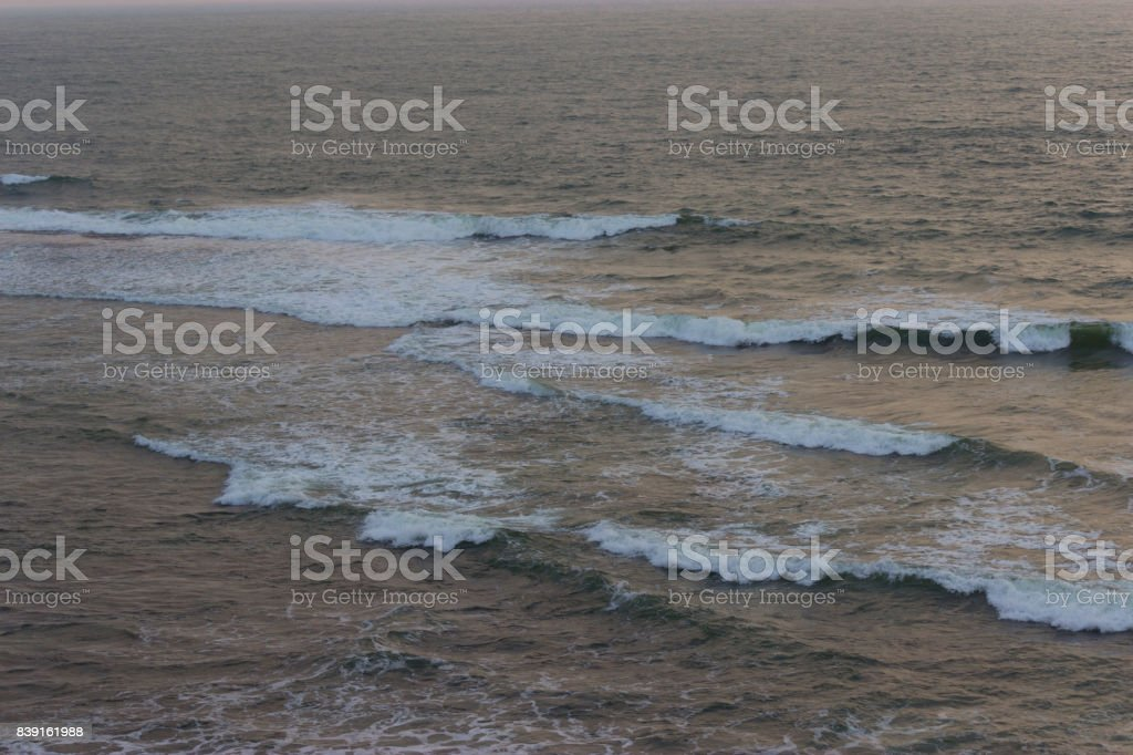 storm wether on the ocean stock photo