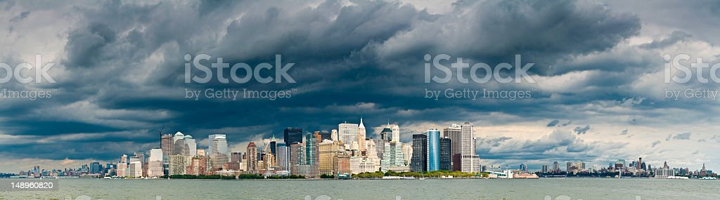Stormclouds over downtown NY royalty-free stock photo