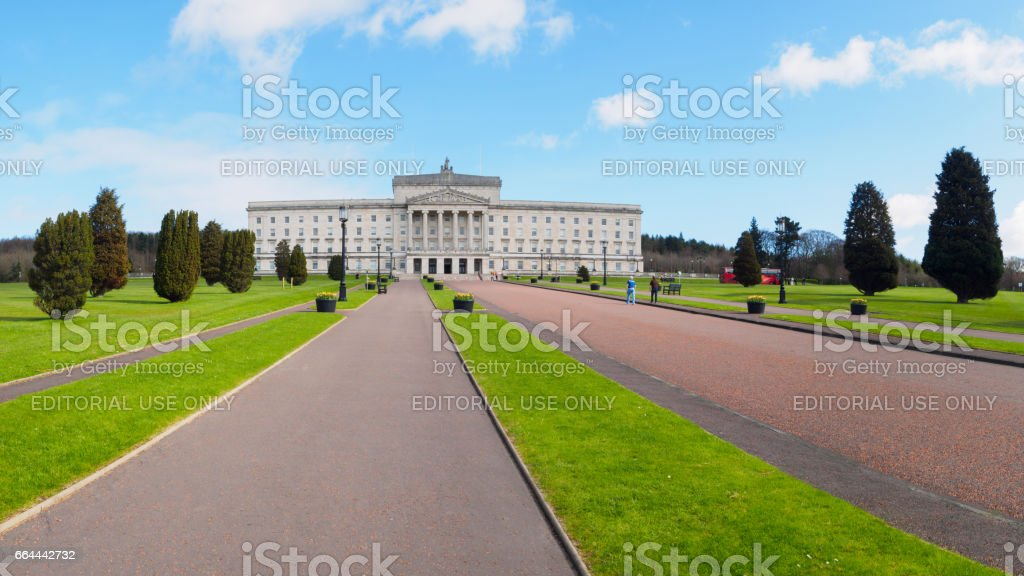 Stormont Building, Seat of Local Government for Northern Ireland stock photo