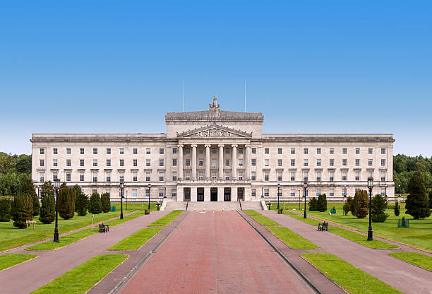 stormont - northern ireland government building - northern lights bildbanksfoton och bilder