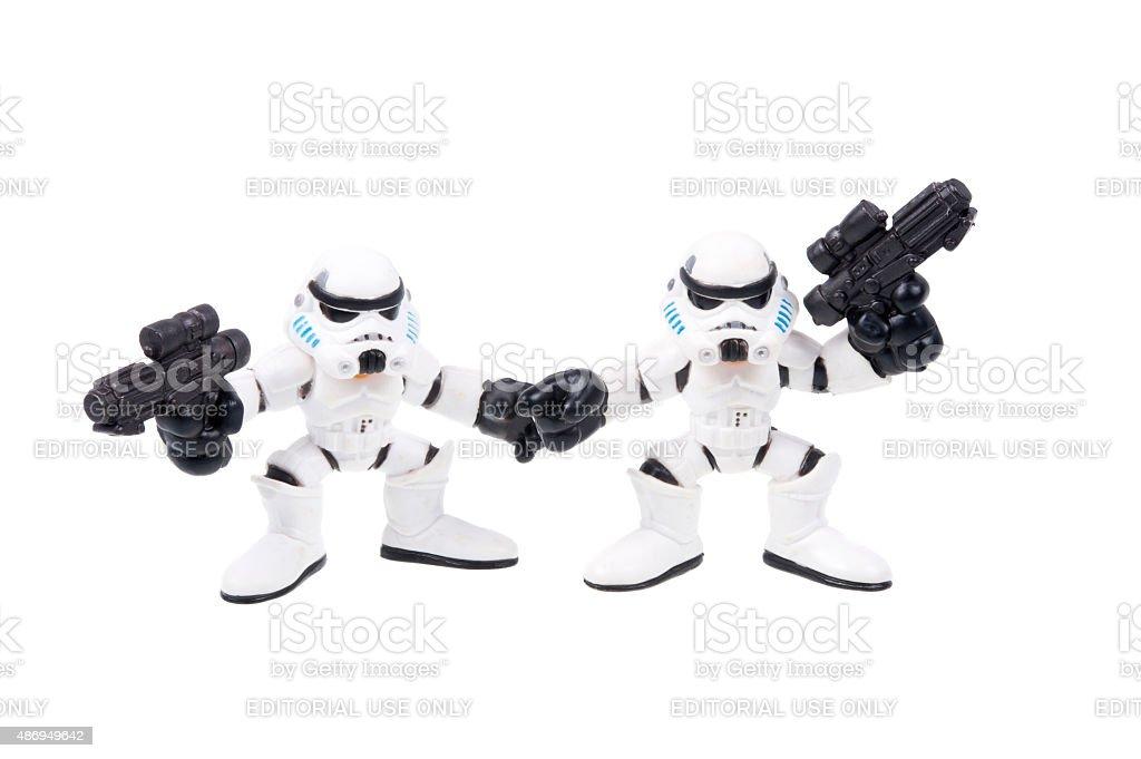 Stormtrooper Action Figures stock photo