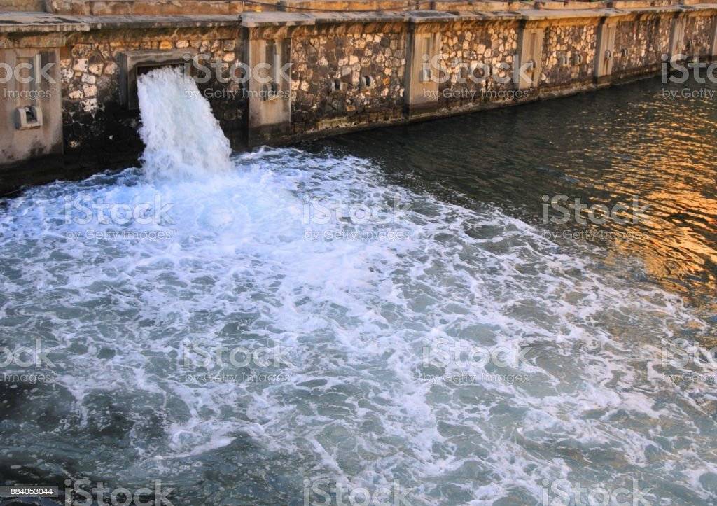 Stormwater discharge - drainage system stock photo