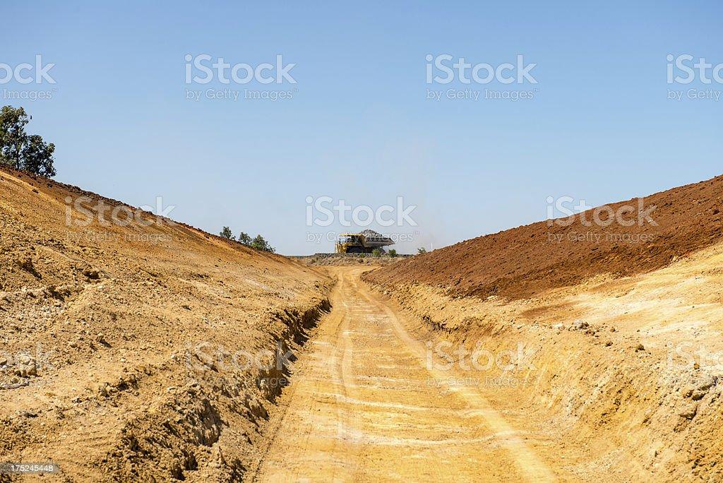 Stormwater Drainage Excavation on coal mine royalty-free stock photo