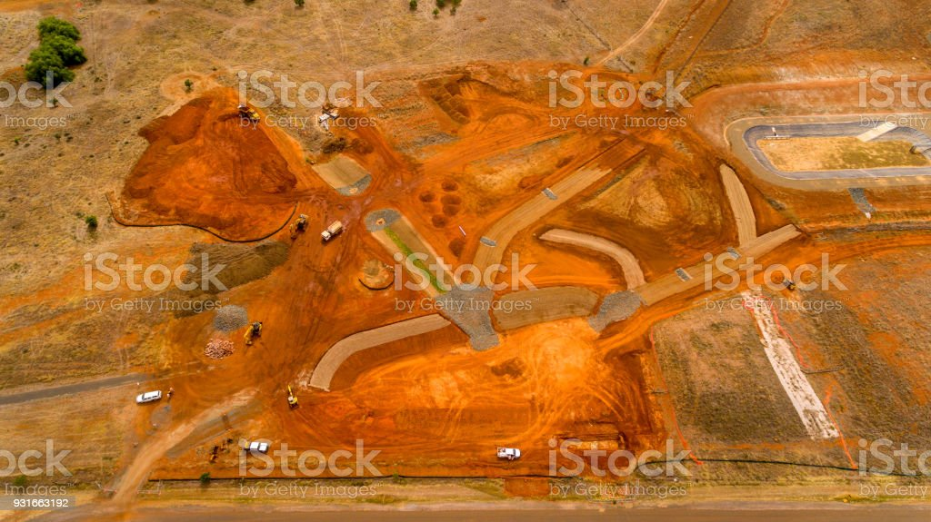 Stormwater Management Construction stock photo