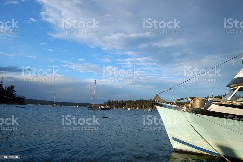 Stormy afternoon in the harbor royalty-free stock photo