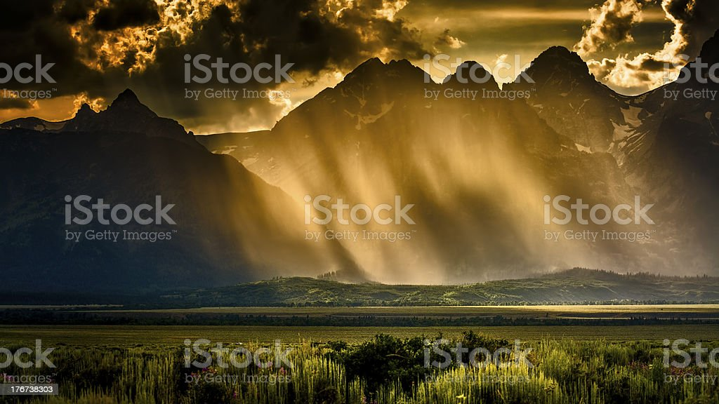 Stormy Afternoon in the Tetons stock photo