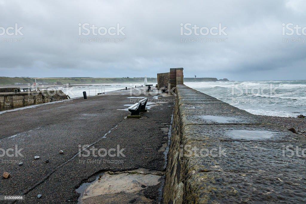 Stormy Bay stock photo