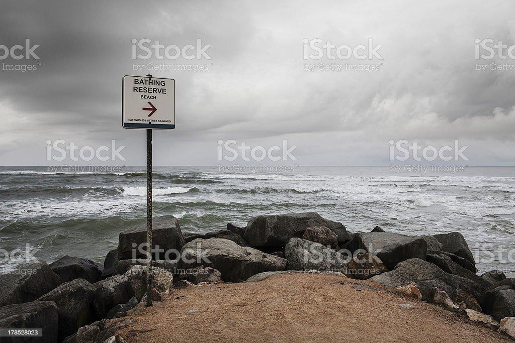 Stormy Beach royalty-free stock photo