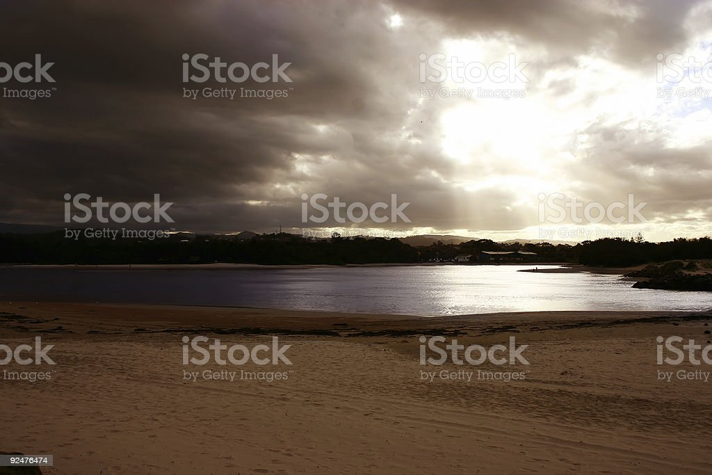 Stormy Beach royalty-free stock photo