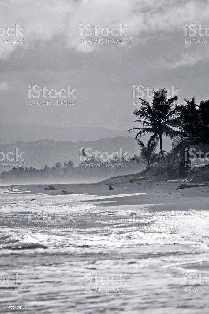 stormy caribbean royalty-free stock photo