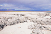 Stormy clouds above the ground. Atacama desert. Chile