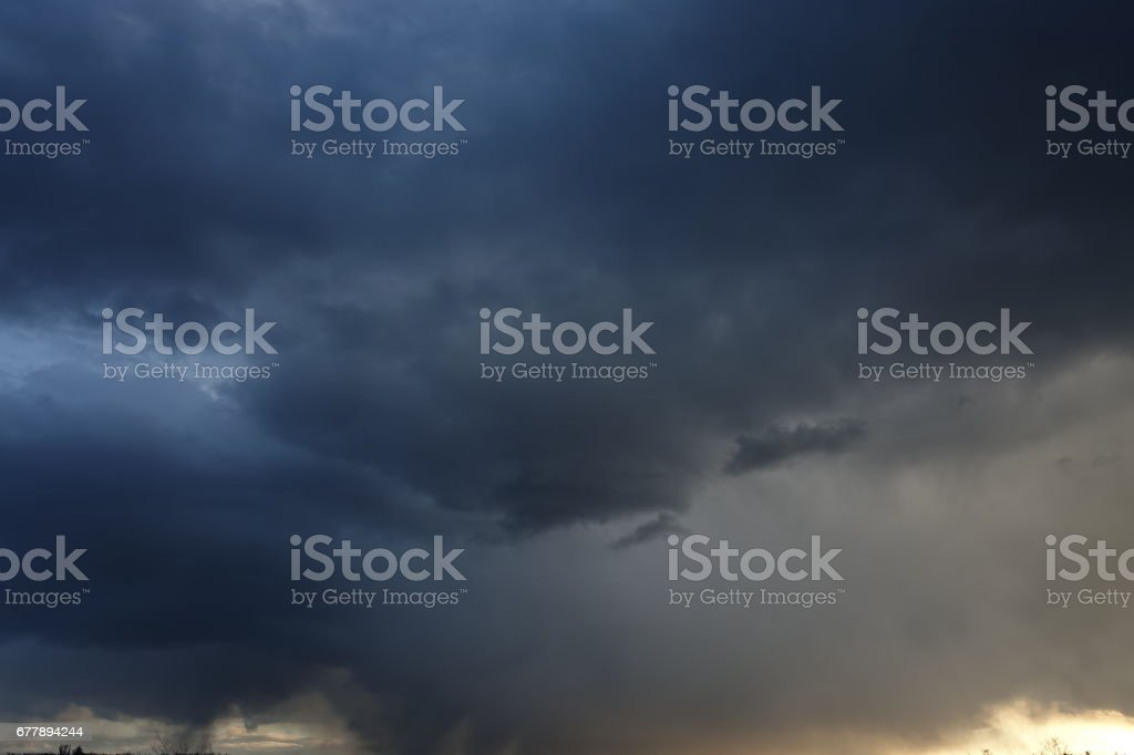 Stormy clouds before the rain royalty-free stock photo