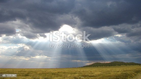 Stormy clouds covering the Serengeti while on game-drive on the way to Seronera.