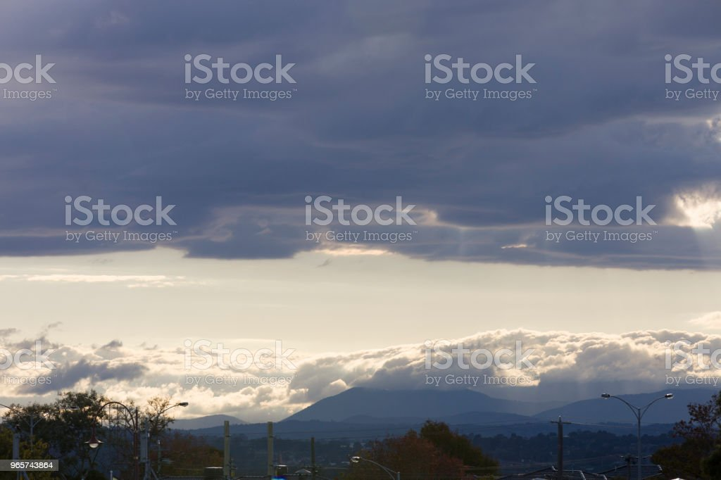 Stormy Clouds Covering The Sky - Royalty-free Acima Foto de stock