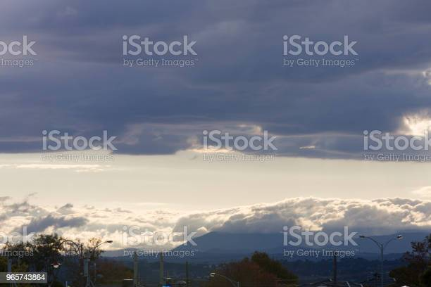 Stormy Clouds Covering The Sky - Fotografias de stock e mais imagens de Acima