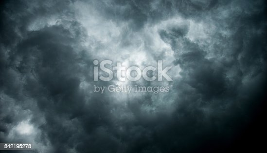 istock Stormy clouds for background 842195278