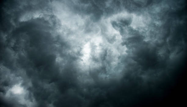 Stormy clouds for background stock photo