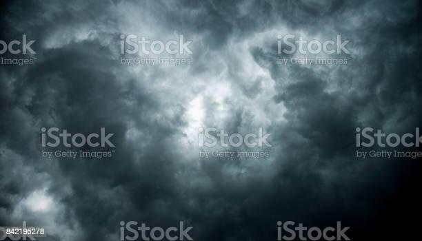 Photo of Stormy clouds for background