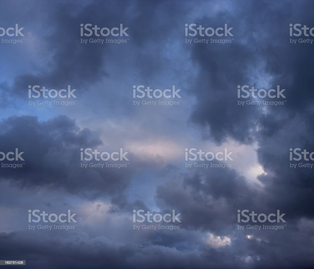 Stormy clouds on a summer evening. royalty-free stock photo