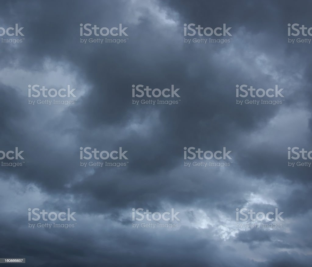 Stormy clouds on spring evening. royalty-free stock photo
