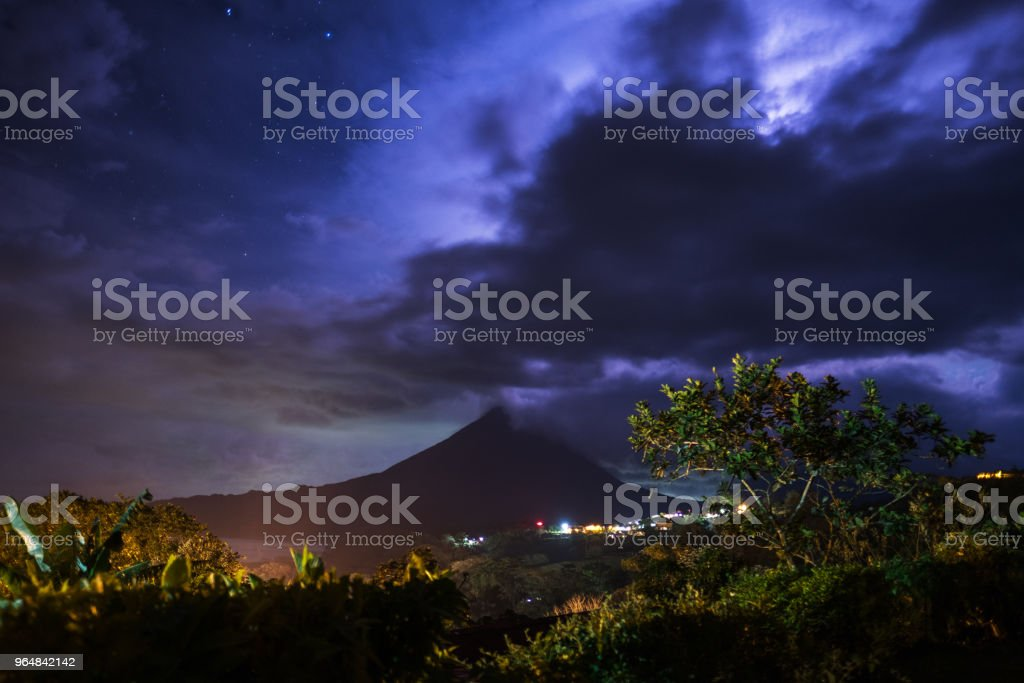 Stormy clouds over the volcano of Arenal royalty-free stock photo