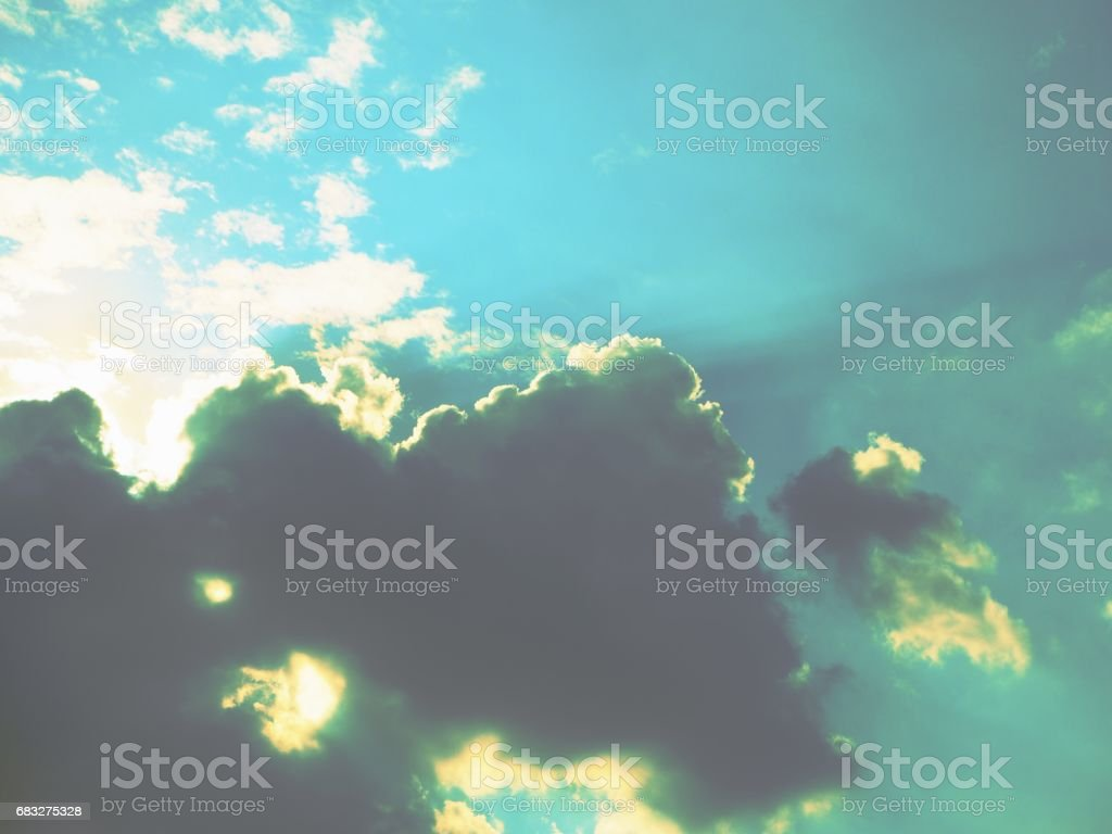 Stormy clouds sky royalty-free stock photo