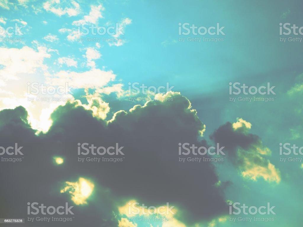 Stormy clouds sky Lizenzfreies stock-foto