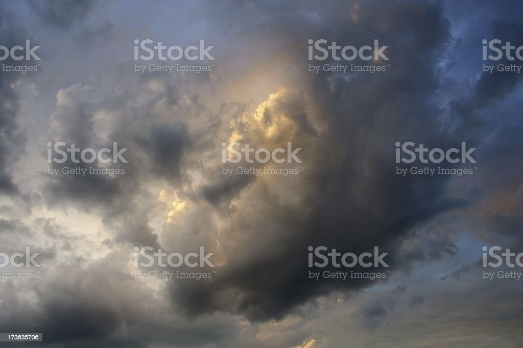 Stormy cloudscape royalty-free stock photo