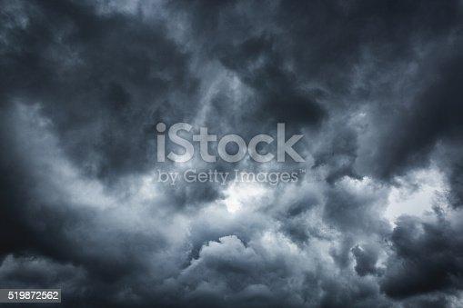 Stormy cloudscape dramatic sky.