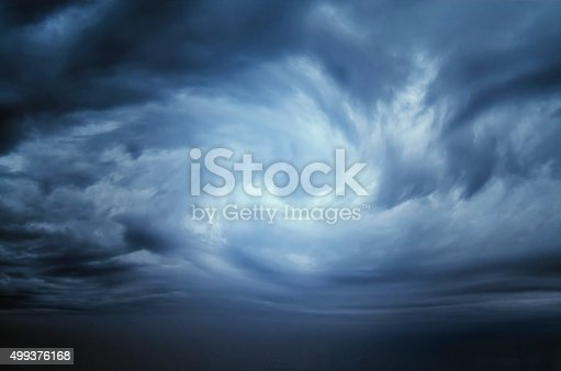 istock Stormy Clouds,Dramatic sky 499376168