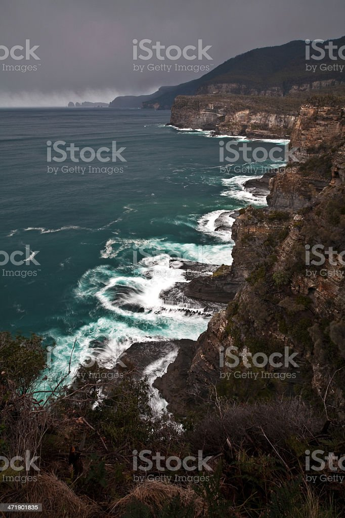 Stormy Coastline royalty-free stock photo