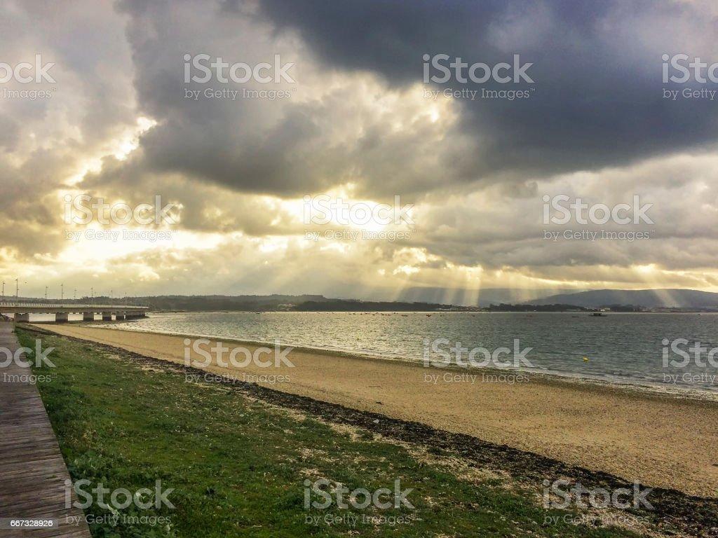 Stormy dawn royalty-free stock photo