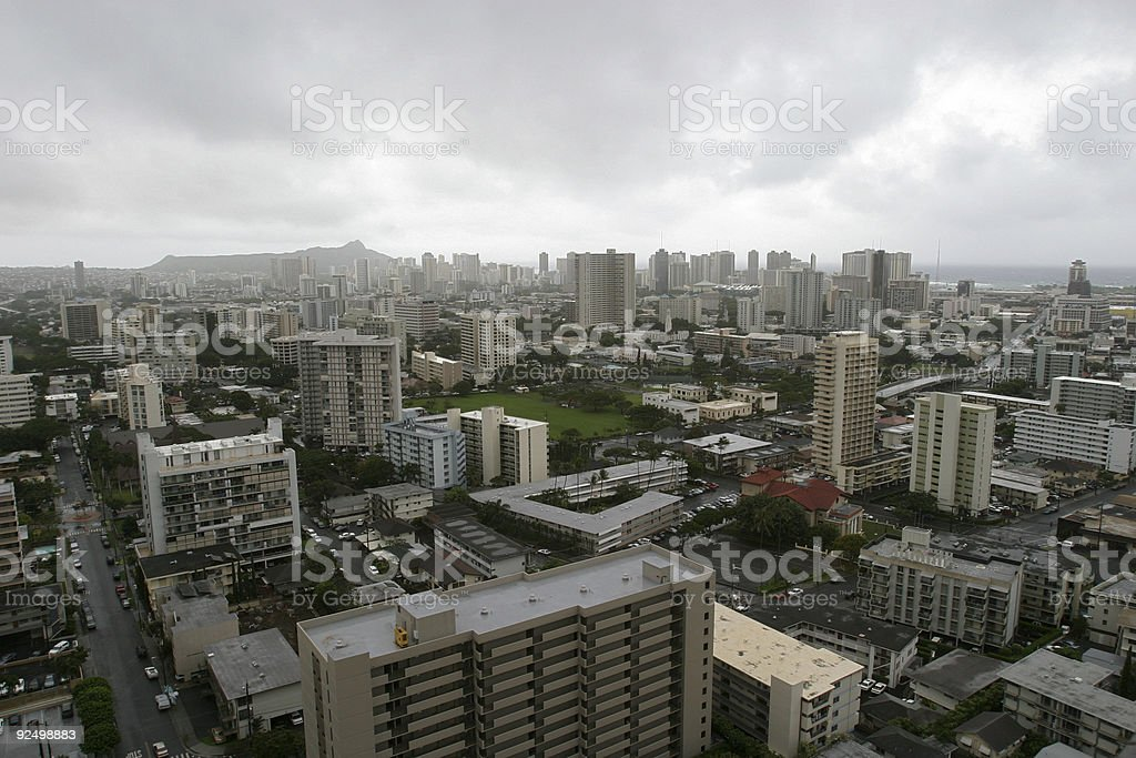 Stormy day in paradise royalty-free stock photo
