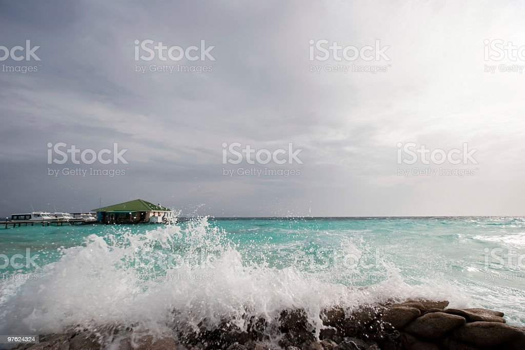 Stormy Day in the Maldives royalty-free stock photo
