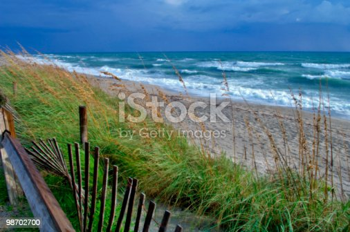 Stormy Day On Jupiter Beach Stock Photo & More Pictures of Beach