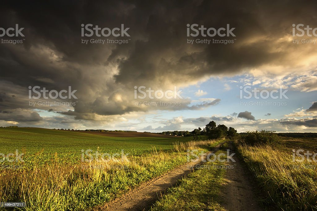 Stormy day. stock photo