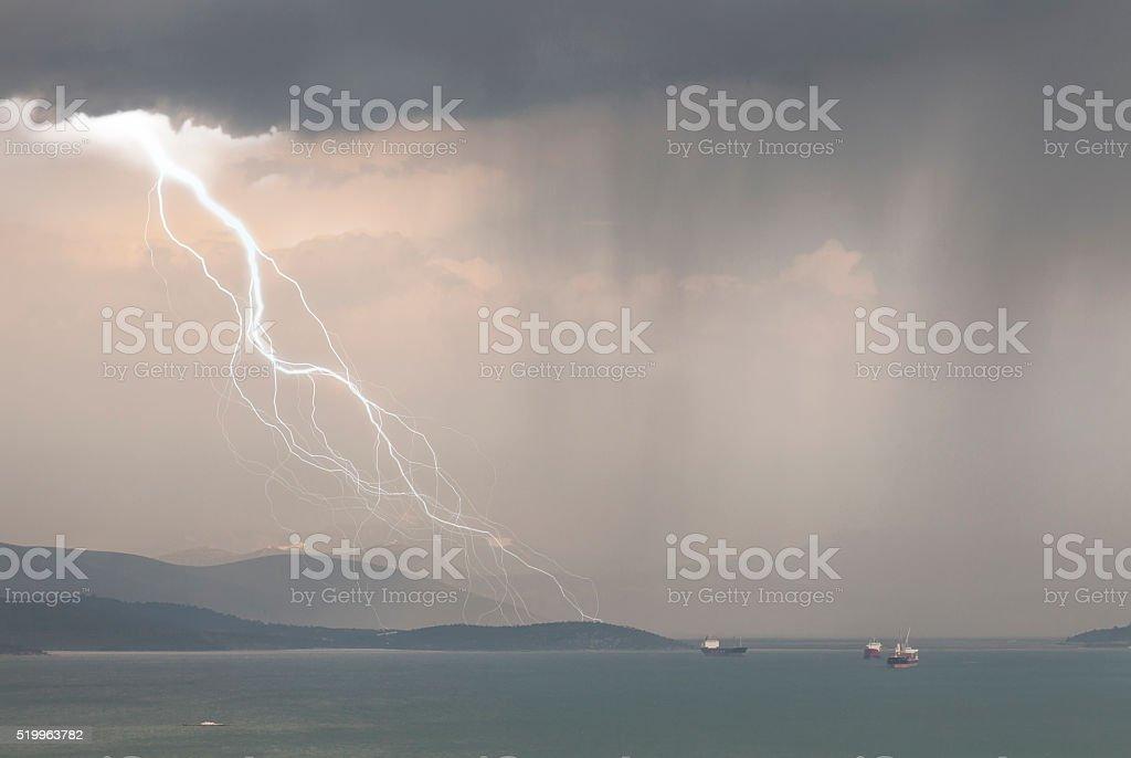 Stormy Day with Heavy Rain stock photo