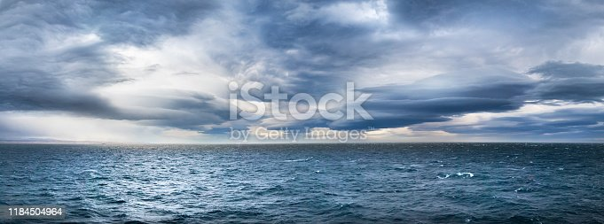 Stormy dramatic weather in the Northwest Passage, Canada.