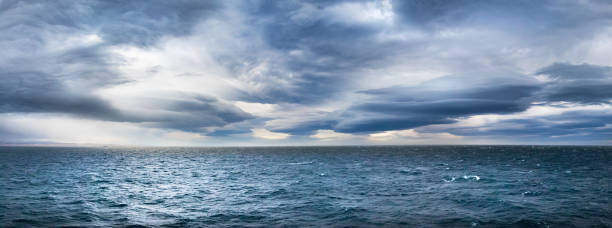 Stormy dramatic weather in the Northwest Passage. stock photo