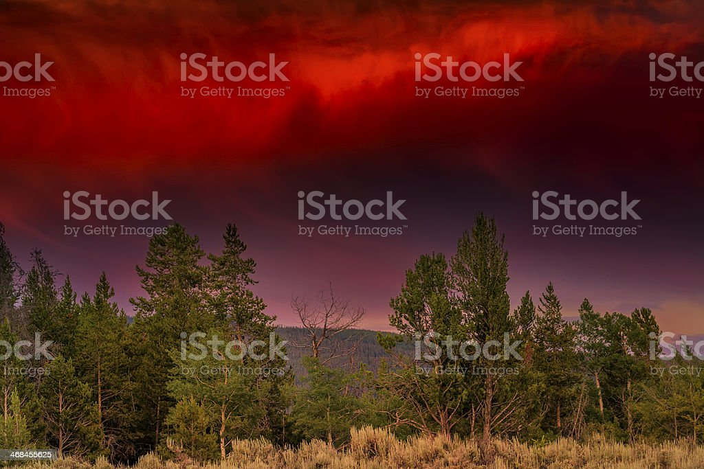 Stormy Evening in the Tetons royalty-free stock photo
