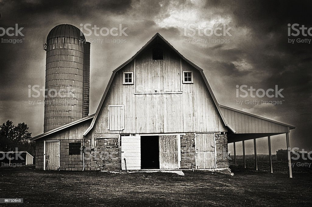 Stormy Farm royalty-free stock photo