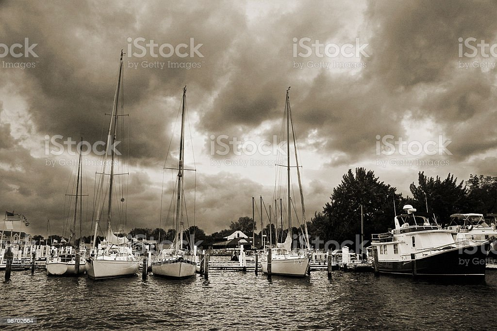 Stormy Harbor royalty-free stock photo