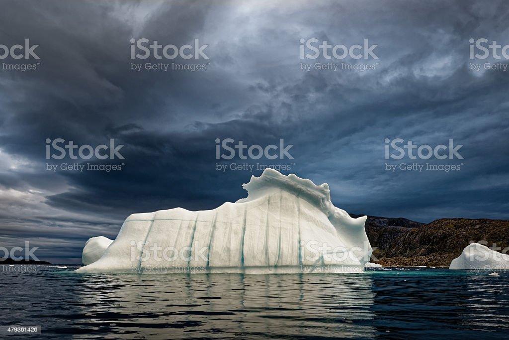 Stormy Iceberg Greenland Uunartoq stock photo