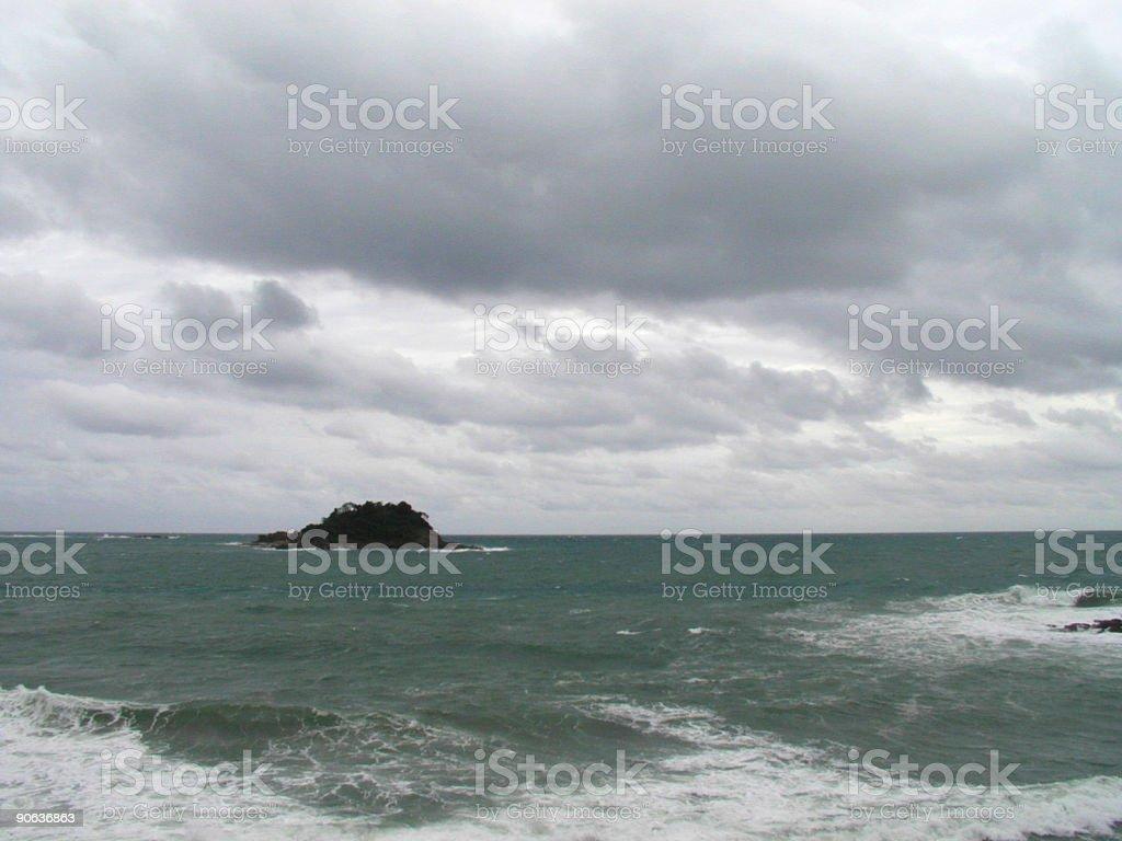 Stormy Island royalty-free stock photo