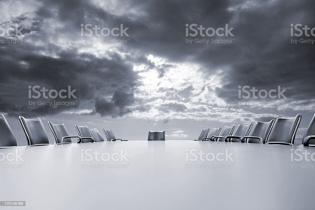 Stormy meeting ahead royalty-free stock photo
