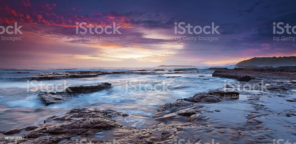 Stormy morning over the ocean royalty-free stock photo